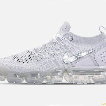 Nike Air VaporMax Flyknit 2 + Crystals - White