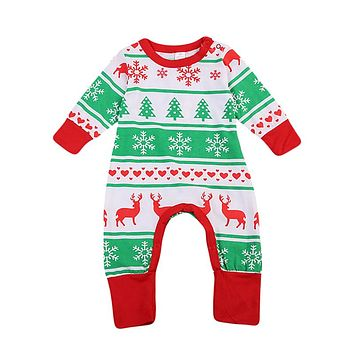 Christmas Gifts Baby Girl Bodysuit Toddler Kid Baby Girl Clothes New Arrival Fashion Jumpsuit Outfits Clothing For Newborns