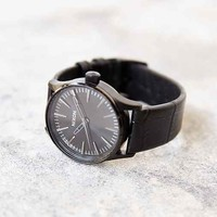 Nixon Sentry 38 Black Leather Watch- Black One