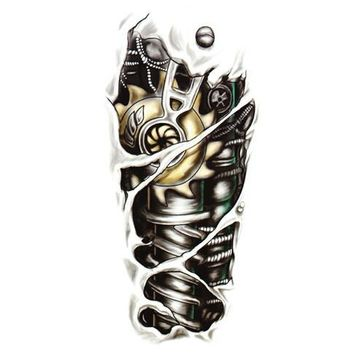 Tattoo Sticker  3D Tattoo Robot Arm Waterproof Temporary