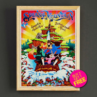 Vintage Frontierland Splash Mountain Print Disneyland Attraction Poster Home Wall Decor Gift Linen Print - Buy 2 Get 1 FREE - 363s2g