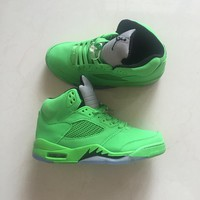 "Nike Air Jordan 5 ""Triple Green"" For Men Basketball Shoes Sneaker"