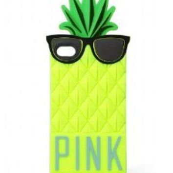 Victoria's Secret PINK Pineapple iPhone 4/4S Soft, Durable Pull-On Case