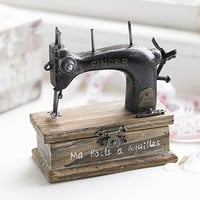 Singer Sewing And Buttons Box