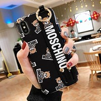 MOSCHINO Hot Sale Cute Bear Mobile Phone Cover Case For iphone 6 6s 6plus 6s-plus 7 7plus 8 8plus X XS Max XR Black