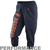 Nike Denver Broncos Ladies Wild Card All Time Performance Capri Pants - Navy Blue