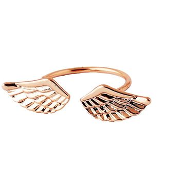 Small Angel Wings Finger Rings For Women Fashion