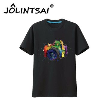 2017 Summer Style Men T Shirt Printing Camera Plus Size 3XL T-shirt Casual Tshirt Homme Creative Fitness Tops O-neck Tee