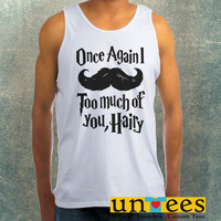 Harry Potter Mustache Clothing Tank Top For Mens