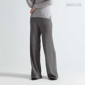 Women's  Knitted  Pants or Capris Merino Wool and Anti Pilling Acrylic