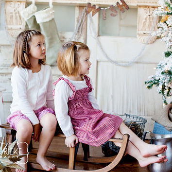 Childrens Clothing....Holiday ....2 piece package....1 skirt and 1 dress....Coordinating Sibling Outfits... perfect for photo shoots...