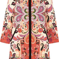 Etro - Printed cotton-blend tweed coat