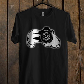 mickey mouse Hands Holding Camera T Shirt Mens T Shirt and Womens T Shirt *