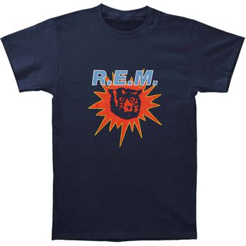 R.E.M. Men's  Monster Burst Mens Soft T Slim Fit T-shirt Navy