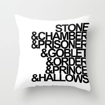 Harry Potter Ampersand Throw Pillow by Alison