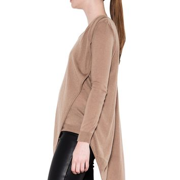 avery asymmetrical sweater - butterum - pullovers