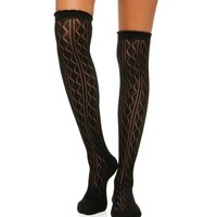 Black Over The Knee Sock