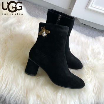 UGG 2018 winter new plus velvet warm fashion casual splash-proof boots Martin boots