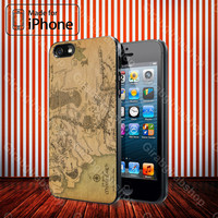 Lord Of The Rings Map IPhone 4 / 4S, IPhone 5 / 5S / 5C, Samsung Galaxy S3 / S4 Case