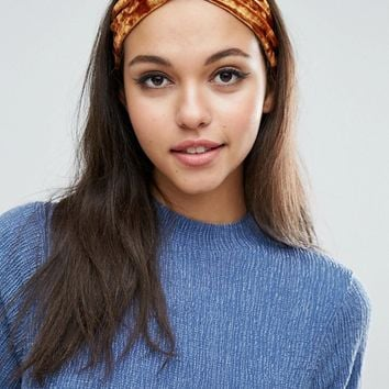 Limited Edition Premium Velvet Hair Turban at asos.com
