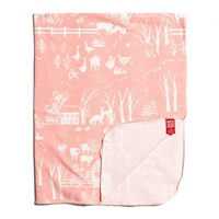 Lightweight Blanket - The Farm Next Door Blush Pink