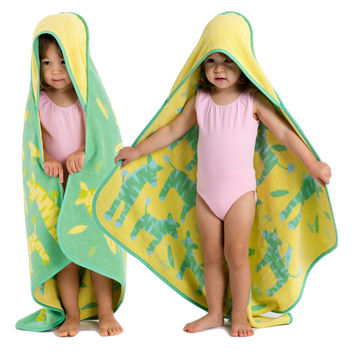 Baby & Toddler Organic Hooded Towel - Zebras