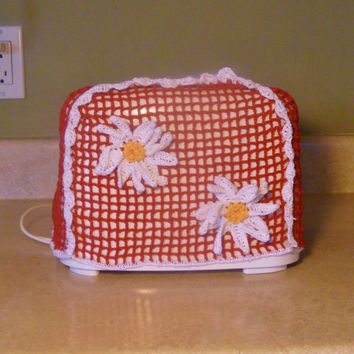 Vintage Style Crochet Daisy Two Slice Toaster Cover