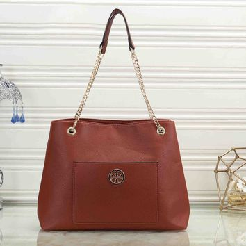 Tory Burch New Popular Women Leather Handbag Shoulder Bag Crossbody Satchel Brown