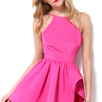 Casual Spaghetti Strap Backless Asymmetrical Flounce Mini Dress