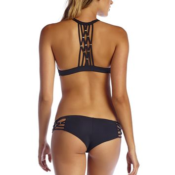 VITAMIN A Amber Black Boyshort Bottom