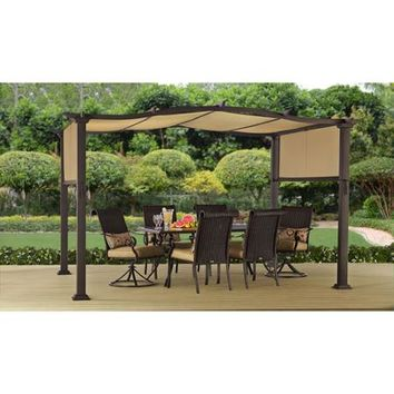 Better Homes and Gardens Emerald Coast 12' x 10' Steel Pergola - Walmart.com