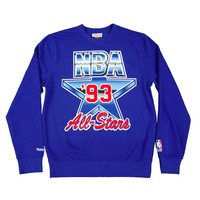 1993 Nba All Star Eastcoast Crewneck Sweatshirt Blue