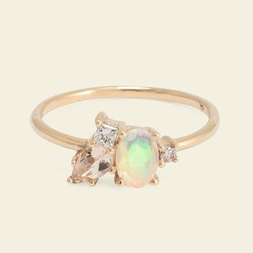 Opal and Morganite Cluster Ring | Erica Weiner