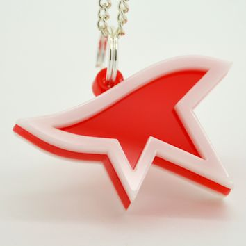 Mirror's Edge Logo Necklace - Laser Cut Acrylic Videogame Jewelry