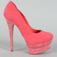 Liliana Freya-3 Jeweled Platform Pump