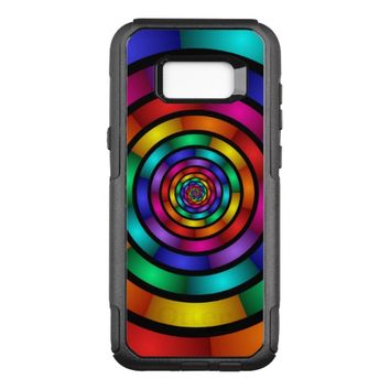 Round and Psychedelic Colorful Modern Fractal Art OtterBox Commuter Samsung Galaxy S8+ Case
