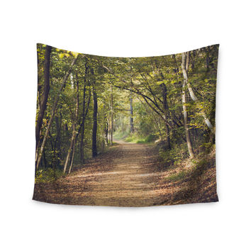 "Ann Barnes ""Forest Light"" Nature Photography Trees Green Wall Tapestry"