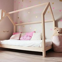 Lucy Raised House Frame Floor Bed