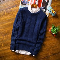 Men's Thick Cotton Sweater