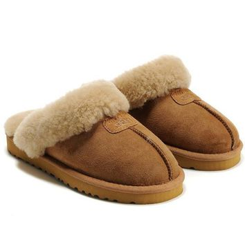 UGG Women Men Slipper Casua Wool Fur Shoes