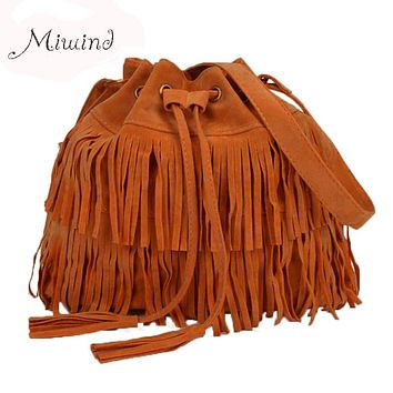 Women Bag Handbags Tote Over Shoulder Crossbody Sling Summer Tassel Purses Suede Fringe Big Cool Female Drawstring Motorcycle
