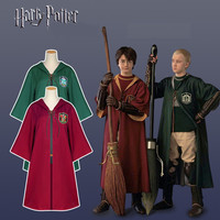 Harry Potter Cosplay Costume Gryffindor Slytherin Robe Boys Girls Magic Cloak Cape Halloween Party Clothing Man Women Adult