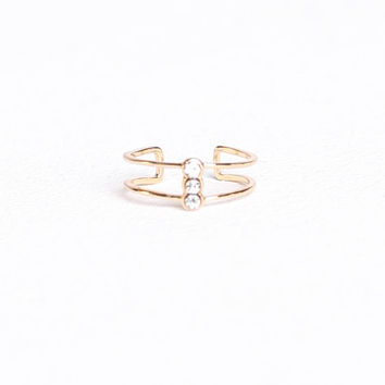 Double Banded Midi Ring