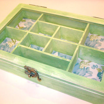 Shabby Green Jewelry Box by StrictlyCute on Etsy