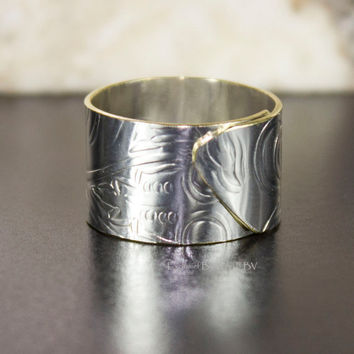 Overlap ring silver band ring perfect promise by ExclusiefByVera