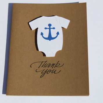 Baby Shower Thank You Cards, Nautical