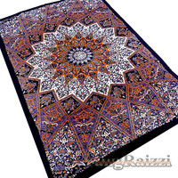 Psychedelic Star Mandala Hippie Tapestry Wall Hanging Bedspread Small Throw Indian Elephant Mandala Bohemian Ethnic Wall Decor