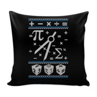 Math Festive Funny Ugly Christmas Holiday Sweater Decorative Throw Pillow Cases Cover(4 Colors)