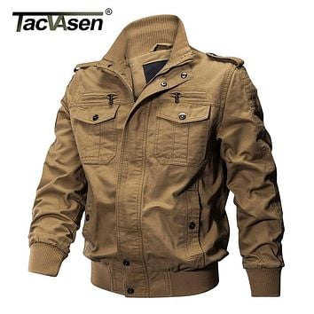 TACVASEN Men Winter Military Jacket Cotton Bomber Jacket Coat Army Pilot Jacket Men's Air Force Casual Jacket Clothing