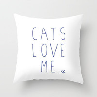 CATS Throw Pillow by Danielle Marie | Society6